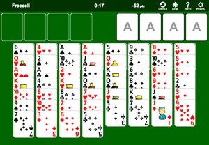Solitario Freecell screenshot